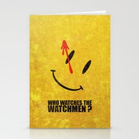 watchmen Stationery Cards featuring The Watchmen (Super Minimalist series) by Itomi Bhaa