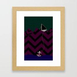 Anchor Drop Framed Art Print