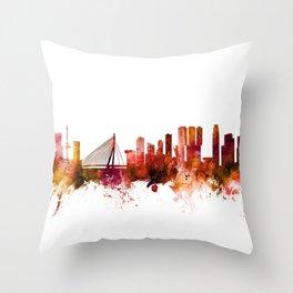 Rotterdam The Netherlands Skyline Throw Pillow