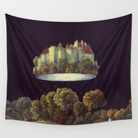castle Wall Tapestries featuring Castle by Matthias Leutwyler