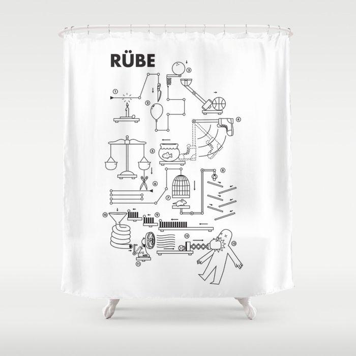 Rube Shower Curtain