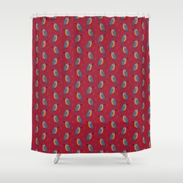 Kingfishers everywhere Shower Curtain