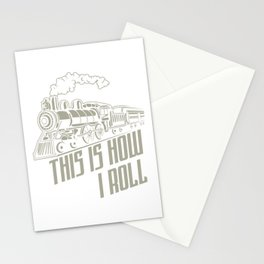 This Is How I Roll Locomotive Train Driver Gift Stationery Cards