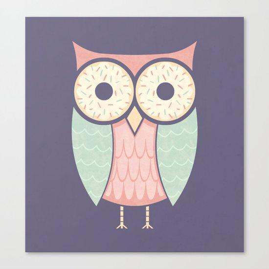 Owl Have Doughnuts Canvas Print