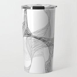 Lost in Lines [B&W] Travel Mug