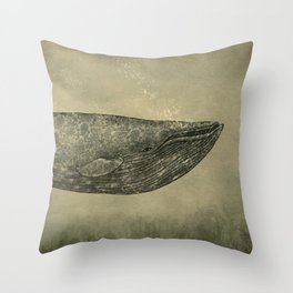 Damask Whale  Throw Pillow