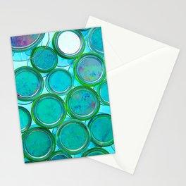 Turqoise Circles by Lika Ramati Stationery Cards