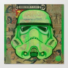 Trooper Green Canvas Print