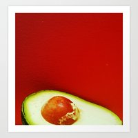 avocado Art Prints featuring Avocado by Olivier P.