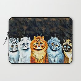 "Louis Wain's Cats ""Five Cats"" Laptop Sleeve"
