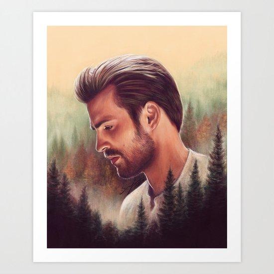 Mountain Lodge Art Print