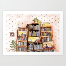 We love books Art Print