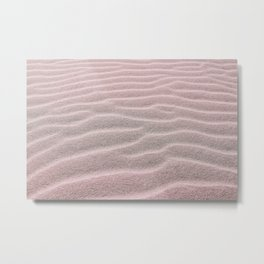 Natural Abstract Pattern - Pastel Sand Waves Metal Print