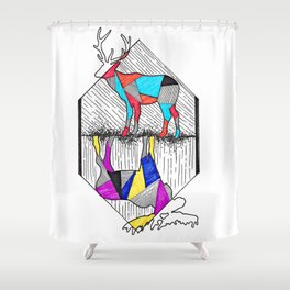 A wounded deer leaps the highest Shower Curtain