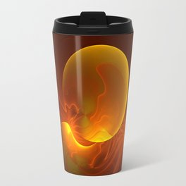 Sun abstract, Fractal Art Travel Mug