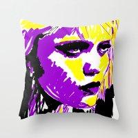 sky ferreira Throw Pillows featuring Sky Ferreira by Simon Falk