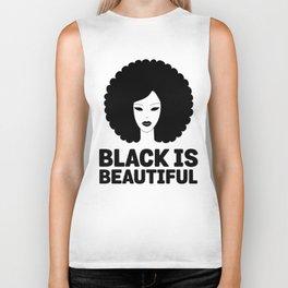 Black Is Beautiful Afro - African American Beauty Biker Tank