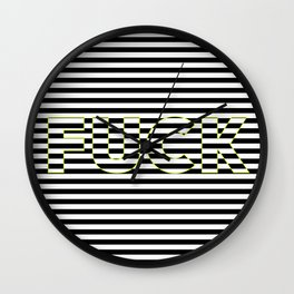 FUCK THE LINES. Wall Clock