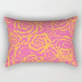 Succulent Stamp - Pink & Orange #315 Rectangular Pillow
