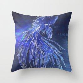 Betta Splendens Throw Pillow