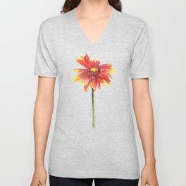 Indian Blanket Wildflower Watercolor Unisex V-Neck