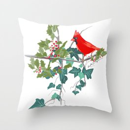 Holly and the Ivy Throw Pillow