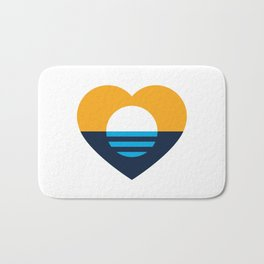 Heart of MKE - People's Flag of Milwaukee Bath Mat