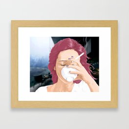 When You Cry Framed Art Print