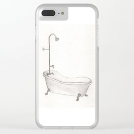 Bathtub Clear iPhone Case