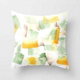 180515 Abstract Watercolour Wp13| Watercolor Brush Strokes Throw Pillow