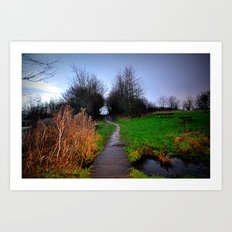 landscape in the woods Art Print
