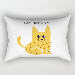 I am not a cat. Rectangular Pillow