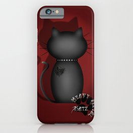 Heavy Metal Katz iPhone Case