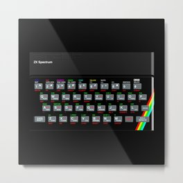 ZX Spectrum Metal Print