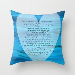 Upon Love's Ocean Throw Pillow
