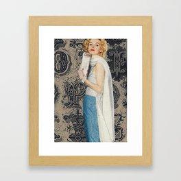 Handmade collage Framed Art Print