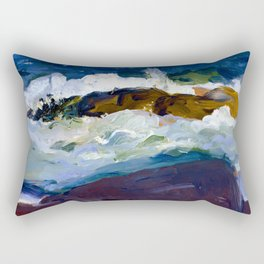 George Bellows Rock Reef in Maine Rectangular Pillow