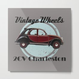 Vintage Wheels - 2CV Charleston Metal Print