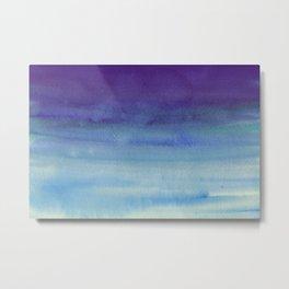 Sky Watercolor Texture Abstract 598 Metal Print