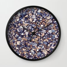 Pebbles in Pinkish Wall Clock