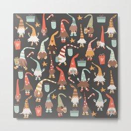 Christmas Gnomes Metal Print