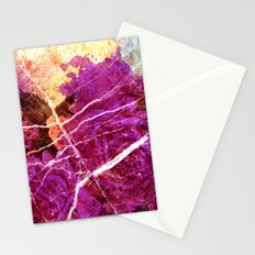 Roses and Marble Stationery Cards
