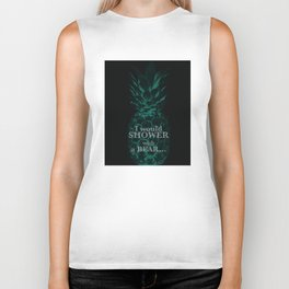 I would rather shower with a bear - Psych quotes Biker Tank