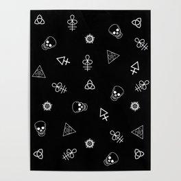 Satanic Witch Pattern Poster