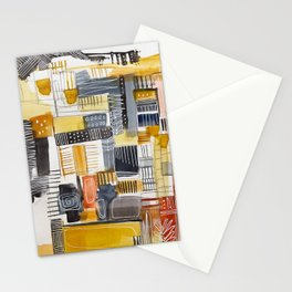 Autumn Rituals Abstract Painting Stationery Cards