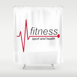 Fitness and sport Shower Curtain