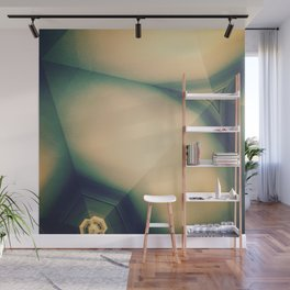 Abstractions in Cyan Wall Mural