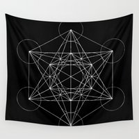 sacred geometry Wall Tapestries featuring Sacred Geometry Print 4 by poindexterity