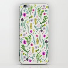 Ferns and Flowers iPhone & iPod Skin