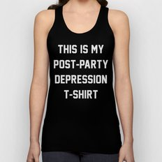Post-Party Depression Unisex Tank Top